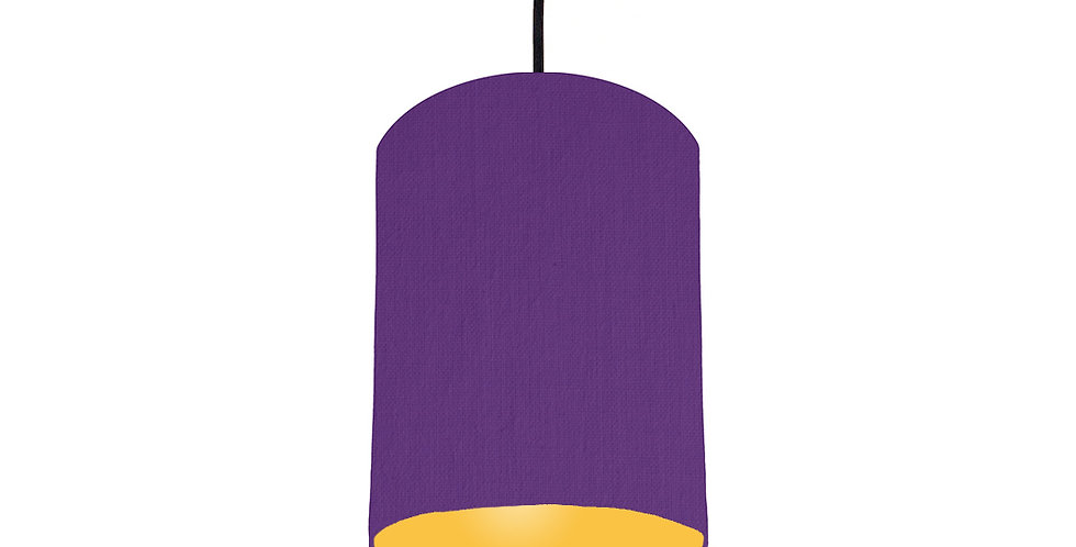Violet & Butter Yellow Lampshade - 15cm Wide