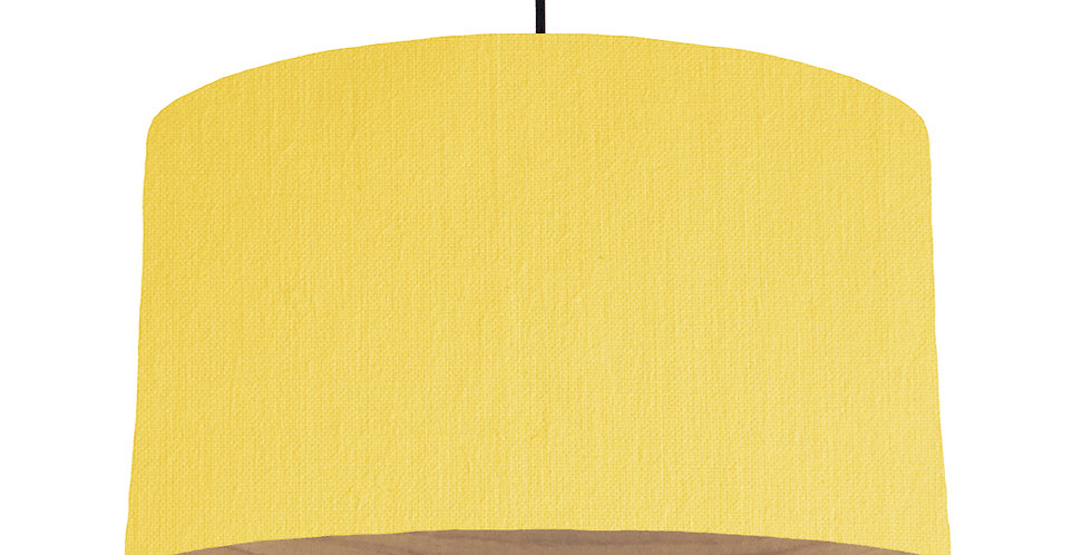 Lemon & Wooden Lined Lampshade - 50cm Wide