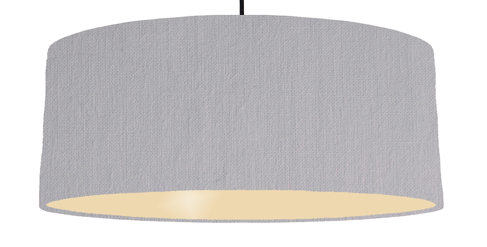 Light Grey & Ivory Lampshade - 70cm Wide