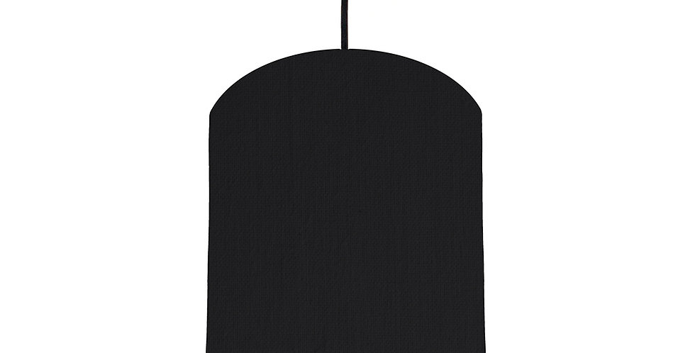 Black & Butter Yellow Lampshade - 20cm Wide