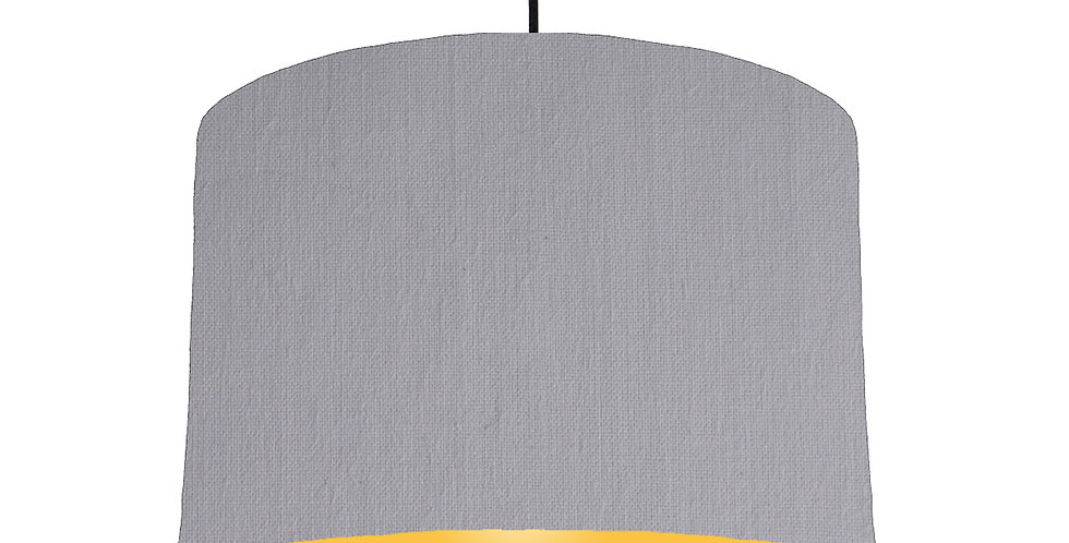 Light Grey & Butter Yellow Lampshade - 30cm Wide