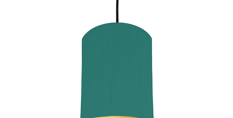 Jade & Brushed Gold Lampshade - 15cm Wide