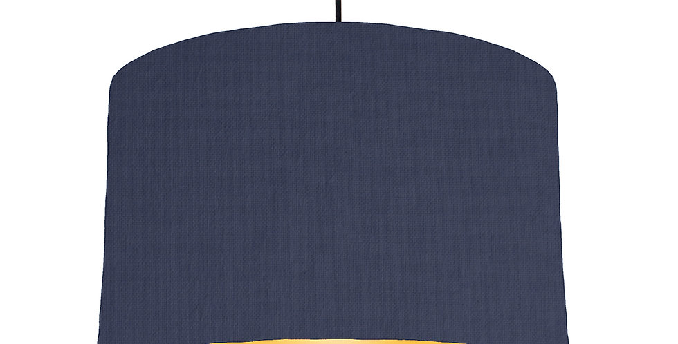 Navy Blue & Butter Yellow Lampshade - 40cm Wide