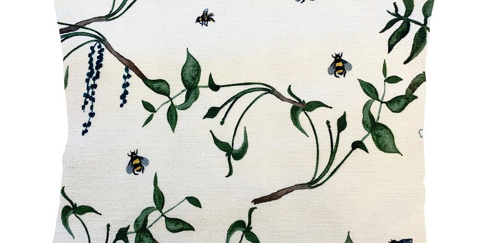 Busy Bee Velvet Cushion