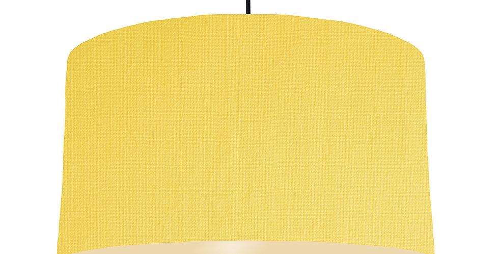 Lemon & Ivory Lampshade - 50cm Wide