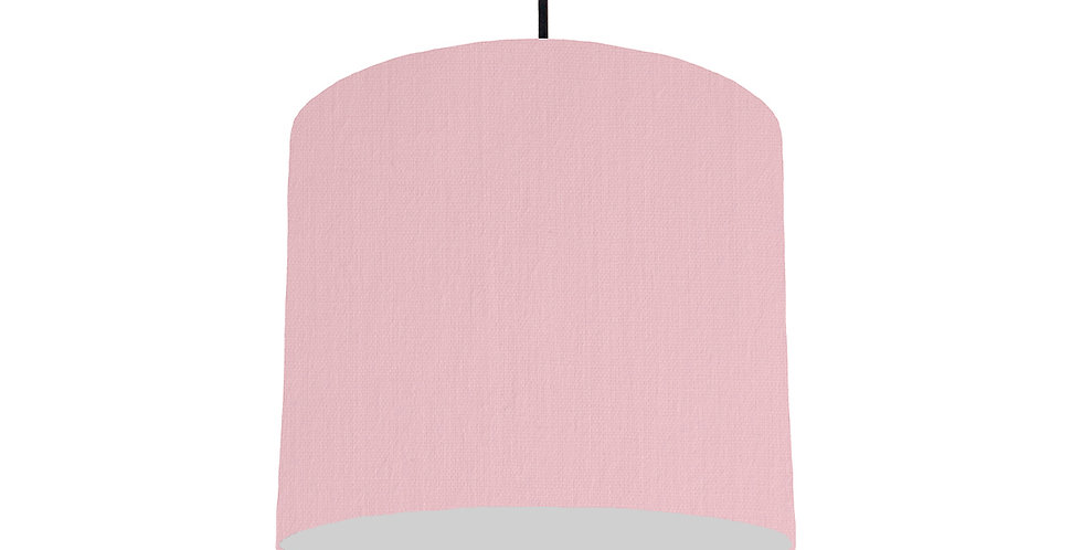 Pink & Light Grey Lampshade - 25cm Wide