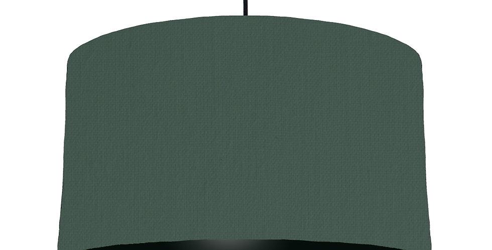 Bottle Green & Black Lampshade - 50cm Wide