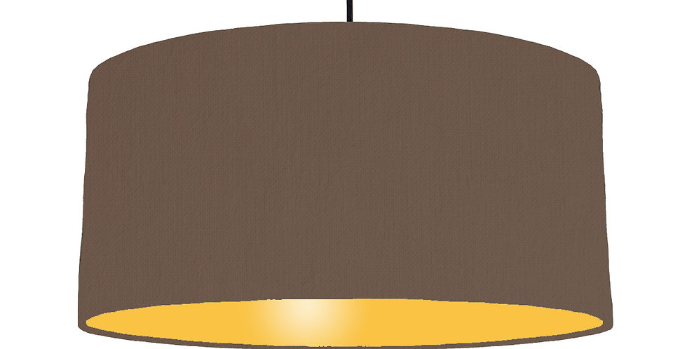 Brown & Butter Yellow Lampshade - 60cm Wide
