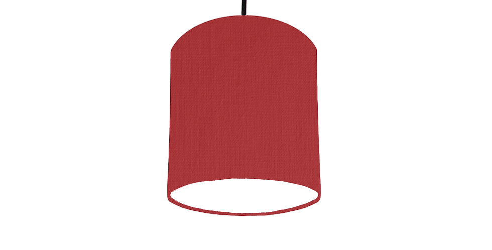 Red & White Lampshade - 15cm Wide
