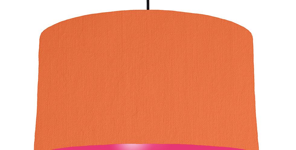 Orange & Magenta Lampshade - 50cm Wide