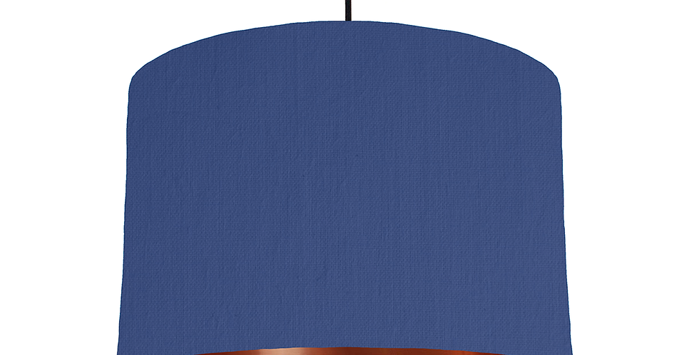 Royal Blue & Copper Mirrored Lampshade - 30cm Wide