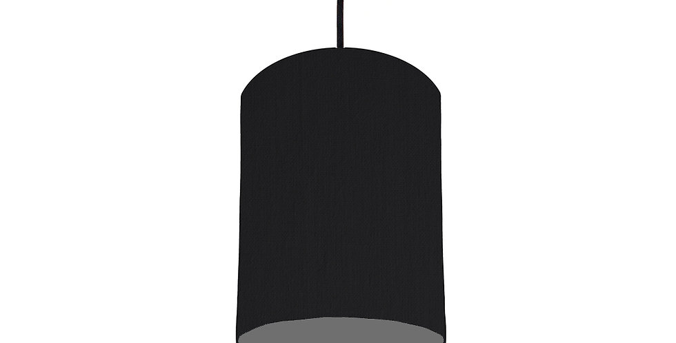 Black & Dark Grey Lampshade - 15cm Wide