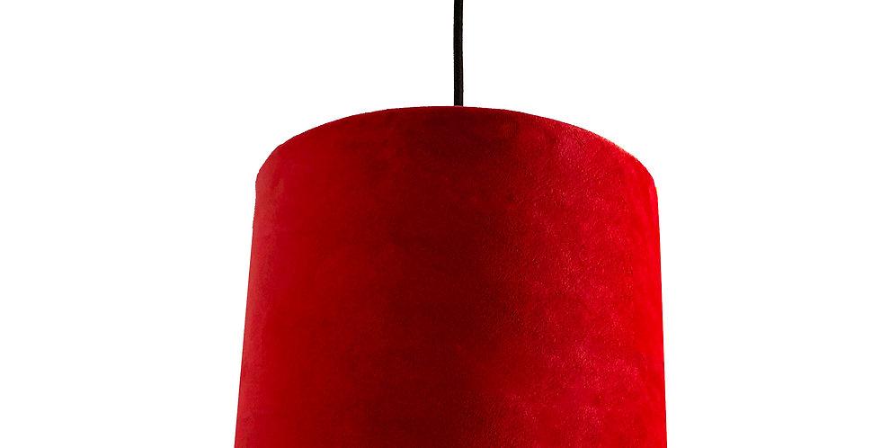 Scarlet Red Velvet Lampshade