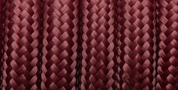 Burgundy - Industville Round Fabric Cable