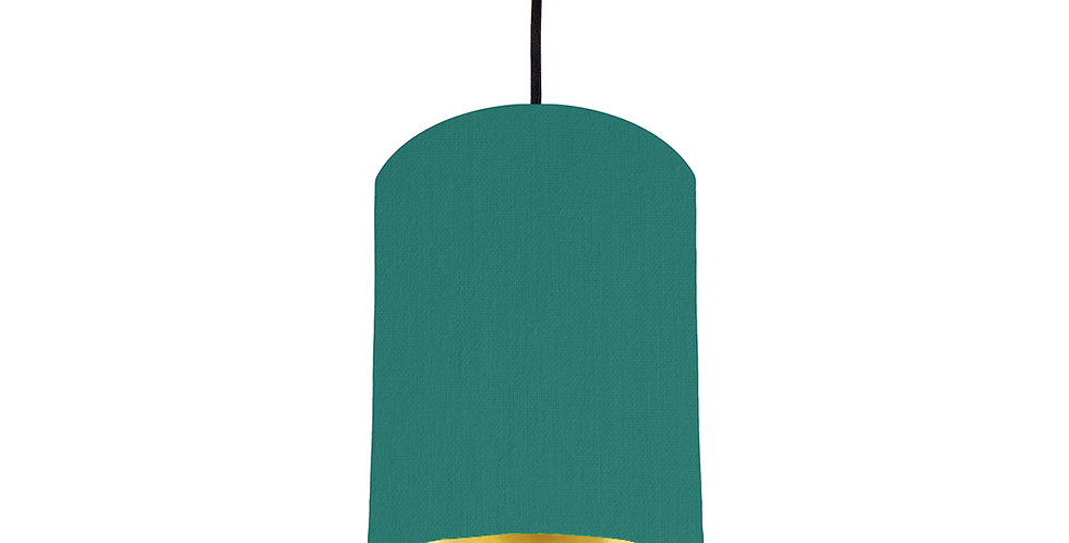 Jade & Gold Mirrored Lampshade - 15cm Wide