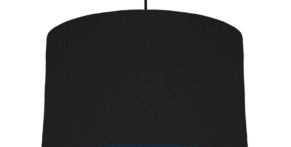 Black & Navy Lampshade - 40cm Wide