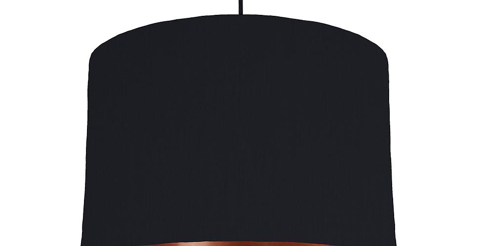 Black & Copper Mirrored Lampshade - 30cm Wide