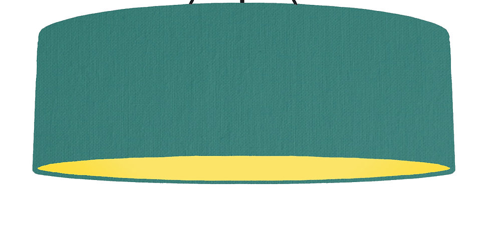 Jade & Butter Yellow Lampshade - 100cm Wide