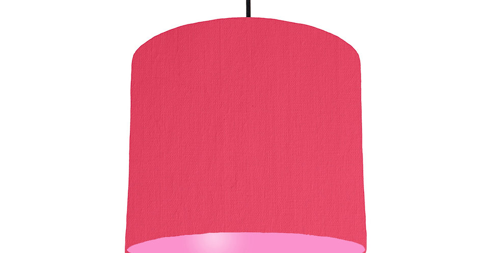 Cerise & Pink Lampshade - 25cm Wide