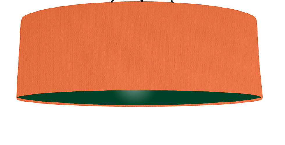 Orange & Forest Green Lampshade - 100cm Wide