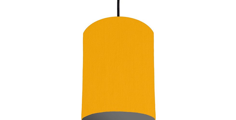 Sunshine & Dark Grey Lampshade- 15cm Wide