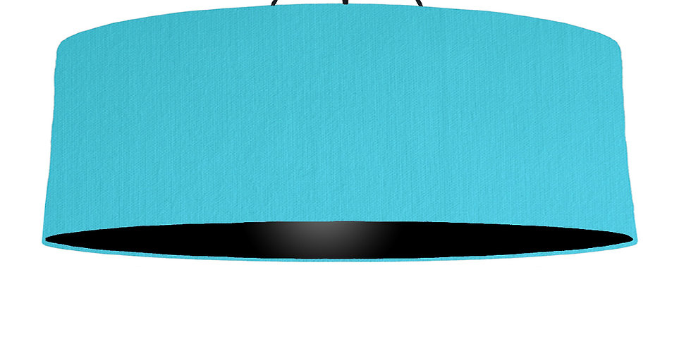 Turquoise & Black Lampshade - 100cm Wide