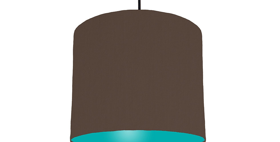 Brown & Turquoise Lampshade - 25cm Wide