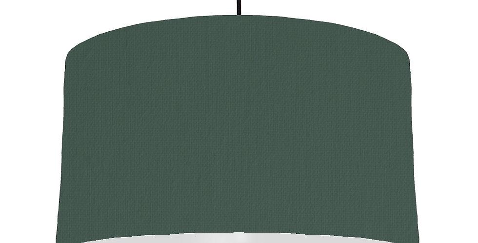 Bottle Green & Light Grey Lampshade - 50cm Wide