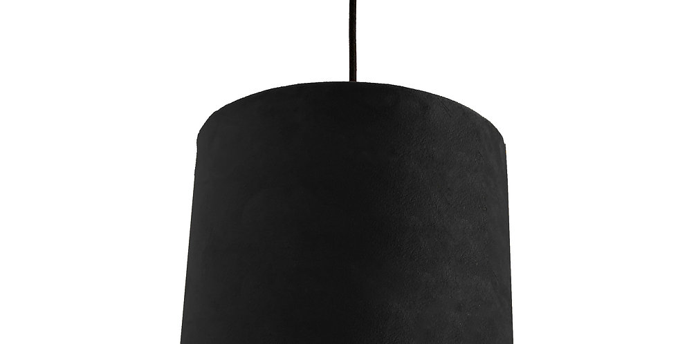Black Velvet Lampshade With Matt Colour Lining