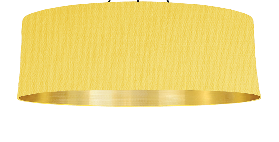 Lemon & Gold Mirrored Lampshade - 100cm Wide