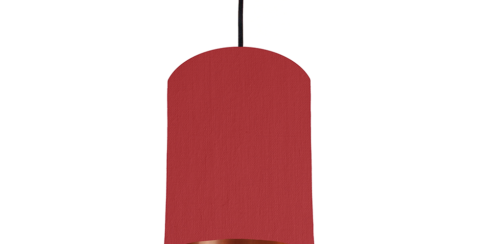 Red & Copper Mirrored Lampshade - 15cm Wide