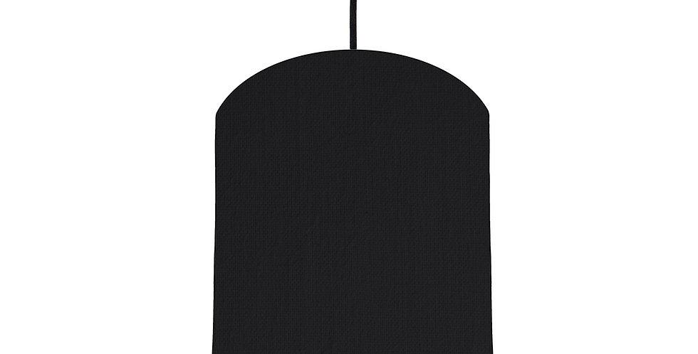 Black & Dark Grey Lampshade - 20cm Wide