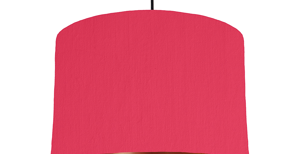 Cerise & Copper Mirrored Lampshade - 30cm Wide