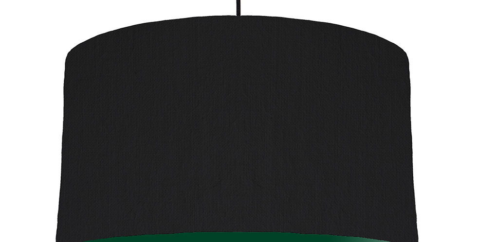 Black & Forest Green Lampshade - 50cm Wide