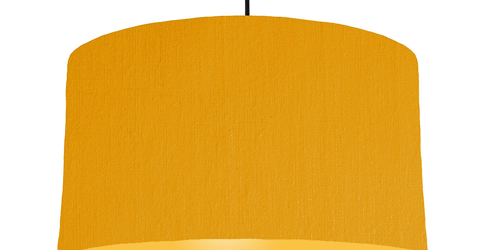 Mustard & Butter Yellow Lampshade - 50cm Wide