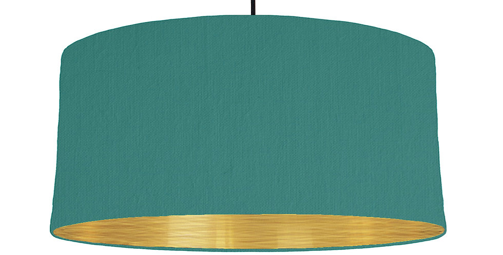 Jade & Brushed Gold Lampshade - 60cm Wide