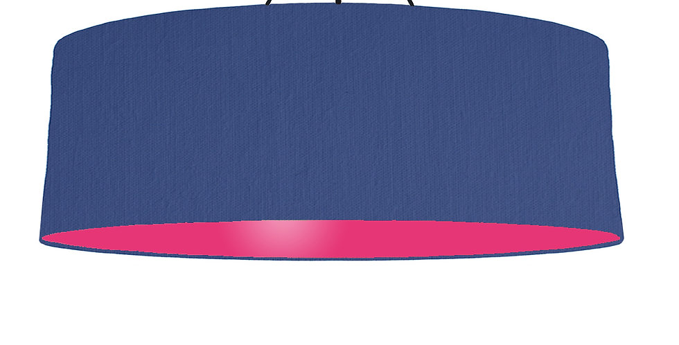 Royal Blue & Magenta Lampshade - 100cm Wide