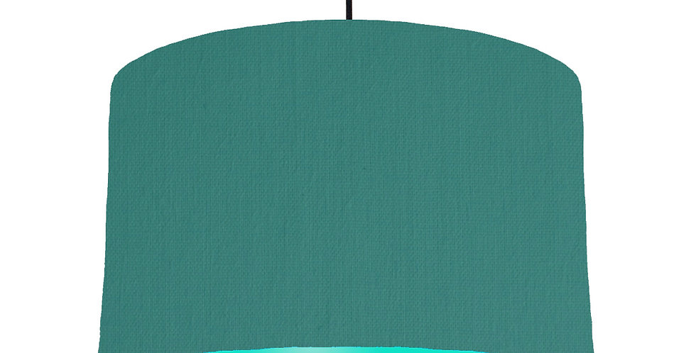 Jade & Turquoise Lampshade - 40cm Wide