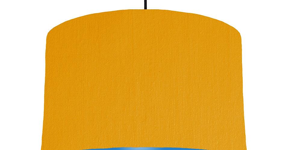 Mustard & Bright Blue Lampshade - 40cm Wide