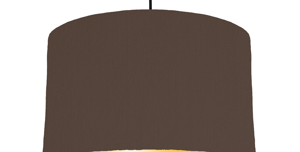Brown & Butter Yellow Lampshade - 40cm Wide