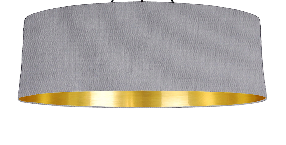 Light Grey & Gold Mirrored Lampshade - 100cm Wide