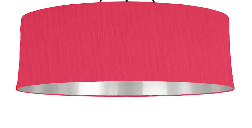 Cerise & Mirrored Silver Lampshade - 100cm Wide
