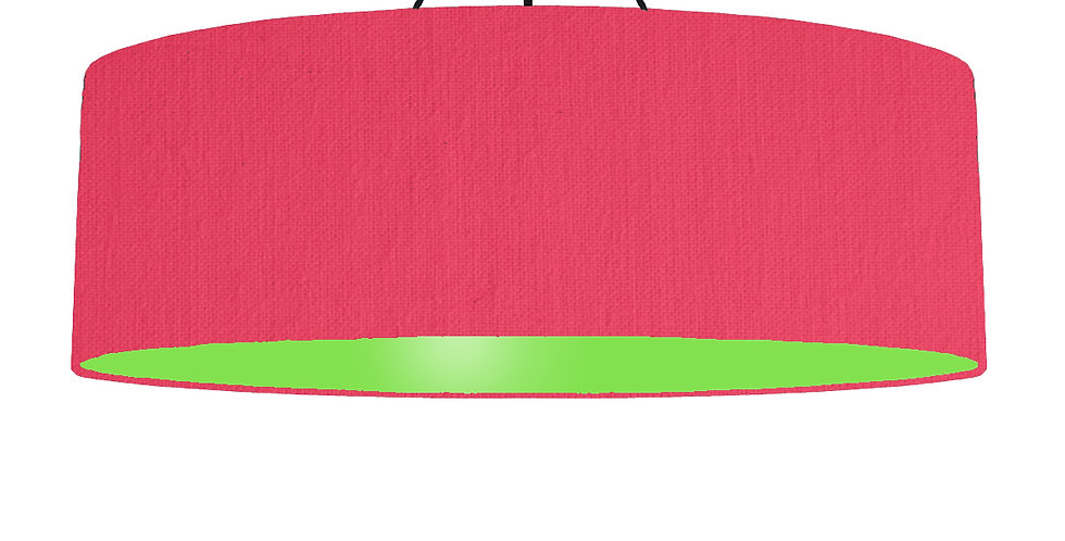 Cerise & Lime Green Lampshade - 100cm Wide