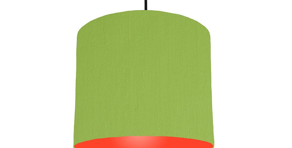 Pistachio & Poppy Red Lampshade - 25cm Wide
