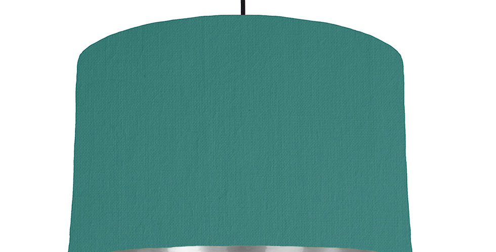 Jade & Silver Mirrored Lampshade - 40cm Wide