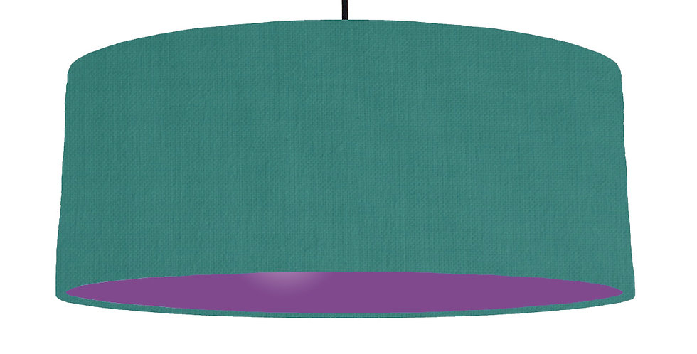 Jade & Purple Lampshade - 70cm Wide