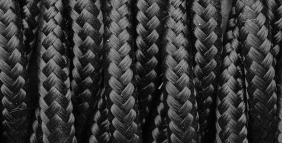 Black - Industville Twisted Fabric Cable