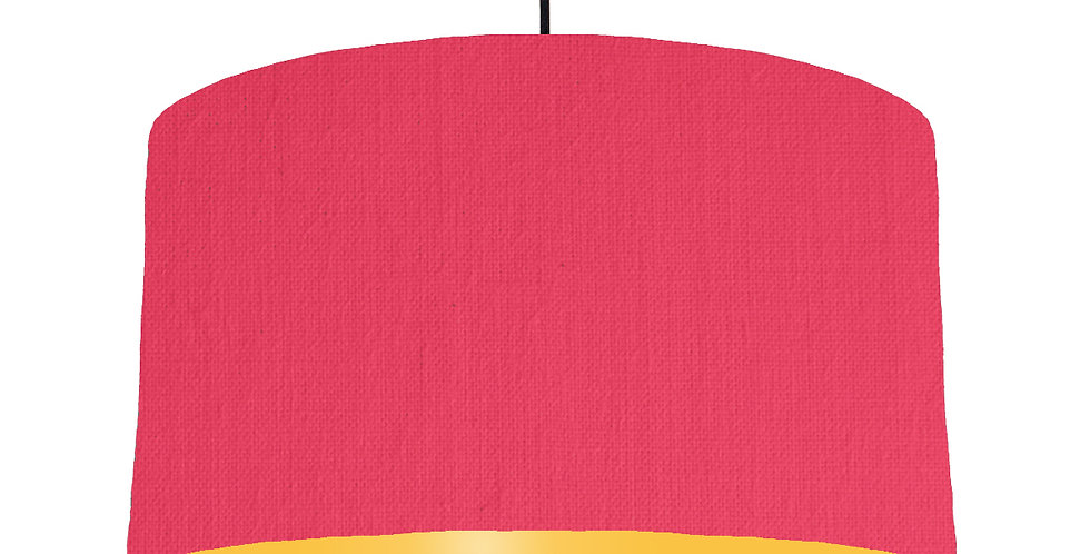 Cerise & Butter Yellow Lampshade - 50cm Wide