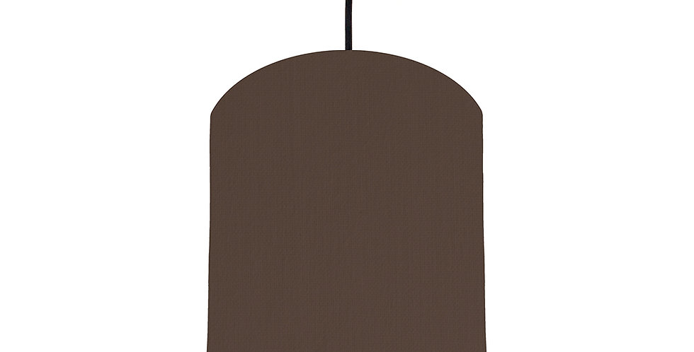 Brown & Wood Lined Lampshade - 20cm Wide