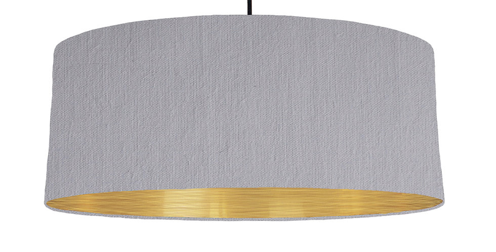 Light Grey &Brushed Gold Lampshade - 70cm Wide